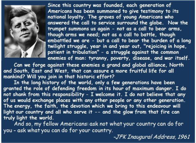 jfk inaugural address transcript